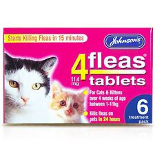 Johnsons 4fleas Tablets for Cats & Kittens 4 x 6 Treatment