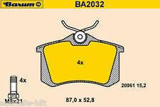 Beläge neu von BARUM AUDI A2 A3 A3 A4 AVANT A6 TT PEUGEOT 405 I II SEAT VW POLO