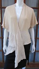 Banana Republic Long Sleeve Wrap Sweater Size S Small Cream Wrap Cardigan