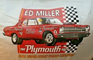 ED MILLER AND GUENTHER RACING T SHIRTS NHRA FIRST S/S WORLD CHAMPION HEMI MOPAR