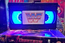 WWE VHS Night Light, Desk Lamp, Led, WCW, WWF, WCW, ECW, Bedroom Lamp, TV, Kids