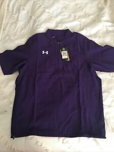 $60 Under Armour Men's Baseball Pullover Triumph Cage Jacket size Small Purple