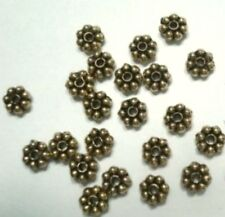 25 Yellow gold plated rondell spacer beads 4mm filler accent beads fpb080
