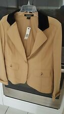 Ellen Tracy Brown Jacket with Elbow Pads Size 14