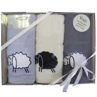 Sheep 3pc Embroidered Kitchen Towels