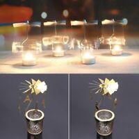 NEW Xmas Rotating Carrousel Tea Light Candle Holder Center Home Decor