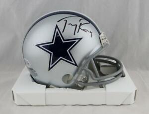 Tony Romo Autographed Dallas Cowboys Mini Helmet - Beckett W Auth *Black