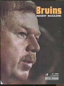 1974 Boston Bruins v California Golden Seals Program NHL Hockey 10/20 Ex 73666