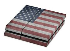 Sony Playstation 4 PS4 Aufkleber Konsolen Skin Sticker Skins Folie USA Flagge