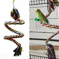Parrot Swing Chew Toy Cotton Rope Bite Toys for Bird Budgies Parakeet Cockatoo L