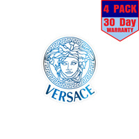 Versace Medusa Blue Color 4 Stickers 4x4 Inches Sticker Decal