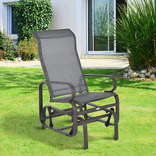 Patio Porch Glider Bench Swing Sling Chair Rocker Mesh Outdoor Garden Furniture