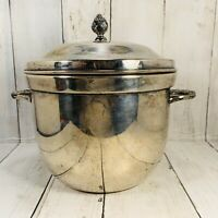 Vintage Poole Silver Company Ice BucketWith Kid Taunton Mass 3600A EPC