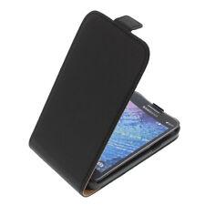 Funda para Samsung Galaxy J1 protectora Teléfono Móvil con tapa NEGRA