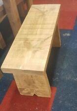 NEW SOLID WOOD RUSTIC CHUNKY PLANK WOODEN BENCH WITH PANEL LEG MADE TO MEASURE