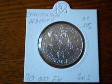 Pièce 10 euros région CHAMPAGNE ARDENNE 2012  sous ETUI argent 50%. 70 000 EX