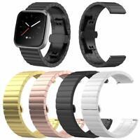 Stainless Steel Metal Watch Band Bracelet Wrist Strap fr Fitbit Versa Lite/Versa