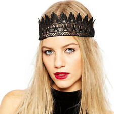 Unique Womens Sexy Black Lace Hollow Headband Hair Band Headpieces Fancy Dress