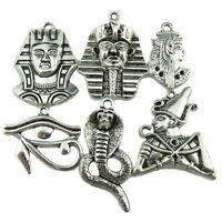 6X Vintage Egypt Egyptian Pharaoh Snake Cobra Guard Horus Ra Amulet Eye Pendant