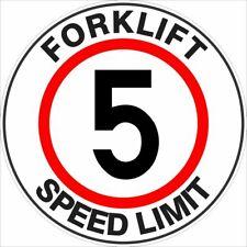 Safety Floor Markers -  FORKLIFT SPEED LIMIT 5 - FLOOR MARKER