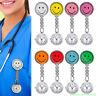 1PC Nurse Clip-on Brooch Watches Pendant Quartz Hanging Smile Face Pocket Clip