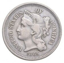 1865 Nickel Three-Cent Piece - Jacobs Coin Collection *651