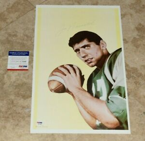 Rare Vintage JOE NAMATH Signed 11 1/2 x 19 In Limited Edition Lithograph-PSA