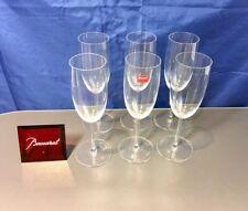 Baccarat Crystal Brummel Set 6 Flute Champagne 1115109 NEW IN BOX