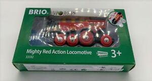 BRIO World 33592 Rote Lola elektrische Lok – Batterie-Lokomotive