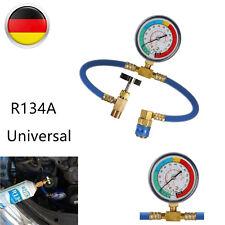 Klimaschlauch R134a Klimaanlage Kältemittel Druck Manometer + Gauge für KFZ Auto