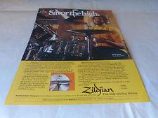 STEVE GADD - Publicité de magazine / Advert ZILDJIAN !!!