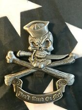 US NAVY 3D Jolly Roger Skull Crossed Bones BOTTLE OPENER USN Challenge Coin