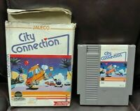 City Connection - NES Nintendo Game Original BOX Tested Working Dust Cover