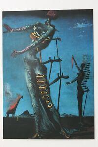 """SALVADOR DALI: """"Die brennende Giraffe"""" , Kunst-Postkarte / auch mit Rahmen"""