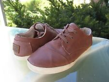TOMS Womens Brown Leather Lace up Fleece Lined Comfort Shoes Sz 9