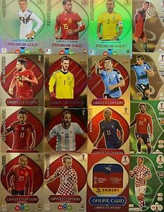 RUSSIA WORLD CUP 2018 Panini Adrenalyn XL Premium Gold LIMITED EDITION CARDS