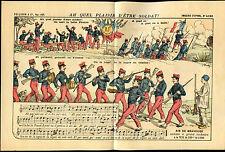 Prospectus COMPAGNIE FRANCAISE à Toulouse - Image d'Epinal 4183, Chant Militaire