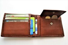 Mens Genuine Cow Leather Wallet / Coin Purse / SIM Holder/ Brown  Super Quality