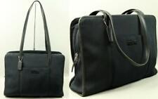 COACH Nylon Leather Strap Shoulder Bag Tote Briefcase Laptop Document Attaché