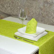 Caminos de mesa color principal verde