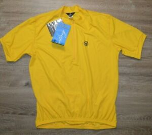 Canari Cycling Jersey Paceline Short Sleeve Men's Size Large Yellow NWT NEW