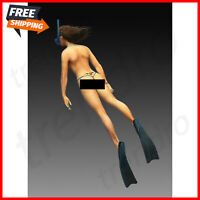 1/35 Scale Resin Figure Model Kit Sexy Beauty Girl Swimming Hot Female Adult
