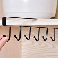 Home Under Cabinet Hanger Rack Kitchen Cupboard Storage Shelf Hook (6 Hooks)