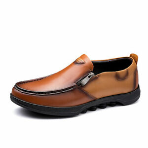 Mens Chic Faux Leather Pumps Slip On Loafers Soft Comfy Driving Moccasins Shoes