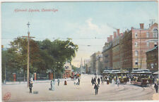 Cambridge,MA.Harvard Square,Trolley Cars,Middlesex County,Used,Flag Cancel,1907
