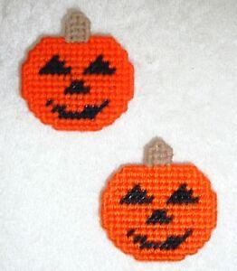 PUMPKIN FACE~JACK-O-LANTERN PINS & MAGNETS~Hand Stitched~NEW