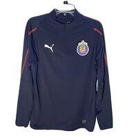 Men's Small Puma Chivas Navy Blue Soccer Futbol Football Jacket