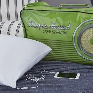 Sleep n Sound Music Speaker Pillow Wired Musical Sound Therapy Smart iPhone iPod