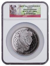 2017-P Australia 10 oz Silver Koala 10th Anniversary $10 NGC PF70 UC SKU47516