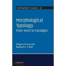 Morphological Typology From Word to Parad. 9781107029248 Cond=LN:NSD SKU:3161494